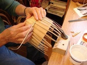 Basket weaving in Arts & Crafts Community in Gatlinburg Tennessee